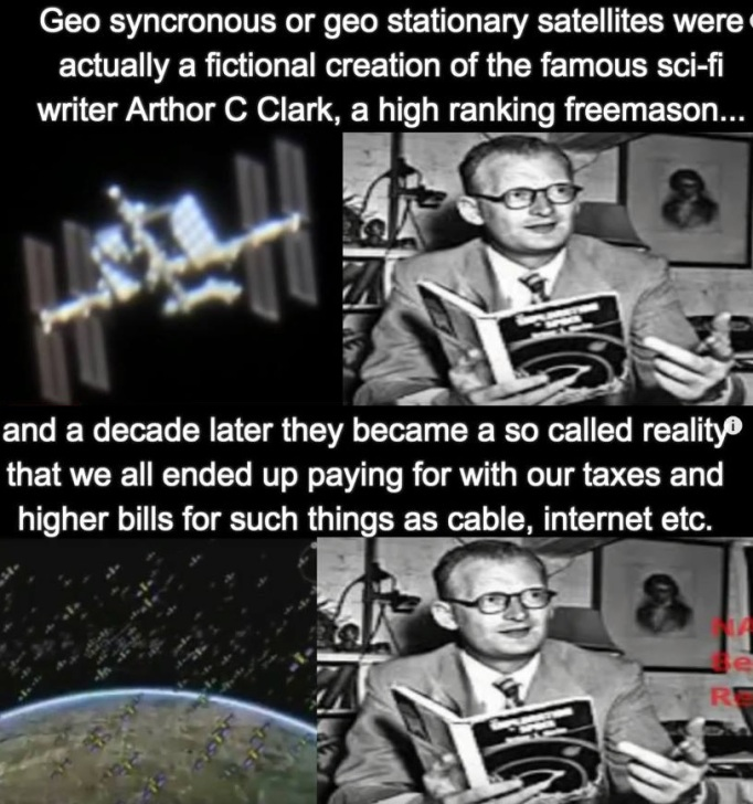 Arthur C. Clarke satellite fraud